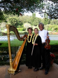 Harp, Flute, Violin Trio for Wedding