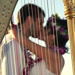 Amalio and Sara through harp